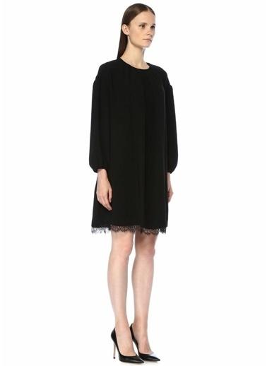Beymen Collection Dantel Detaylı Midi Elbise Siyah